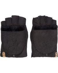 Mackage - Black Shearling Lennon Gloves - Lyst