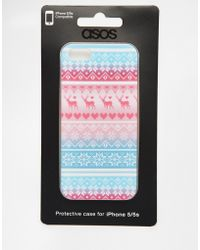ASOS Christmas Sweater Iphone 5 Case - Multicolor