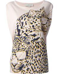 Stella McCartney Leopard Sleeveless Top - Lyst