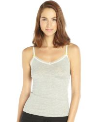 BCBGeneration Heather Grey Lace Trimmed The Cheeky Cami - Lyst