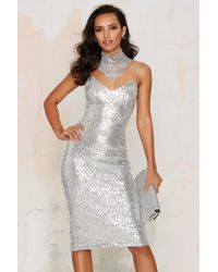 Nasty Gal | Sweet Nothings Sequin Dress - Silver | Lyst
