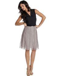 Nic + Zoe Batiste Flirt Skirt gray - Lyst