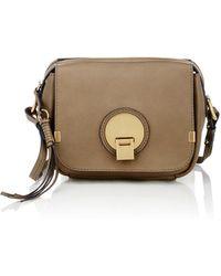 Chlo�� Indy Camera Bag Suede Shoulder Bag in Black | Lyst
