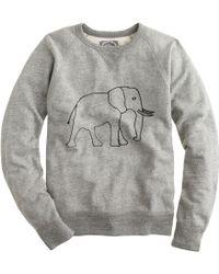 J.Crew Men'S For David Sheldrick Wildlife Trust Elephant Sweatshirt - Lyst