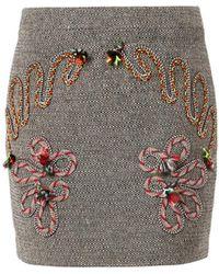Stella McCartney Fiona Embroidered Mini Skirt - Lyst
