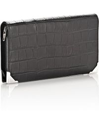 Alexander Wang | Prisma Long Compact In Croc Embossed Black With Rhodium | Lyst