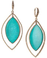 Stephen Dweck - Nouveau Beaded Turquoise Marquis Earrings - Lyst