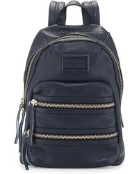 Marc By Marc Jacobs Domo Leather Biker Backpack - Lyst