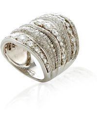 Gioia Rosecut/brilliant Cuts Diamond Stacked Ring - Metallic