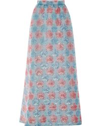 Honor Cotton Candy Cloque Long Skirt - Lyst
