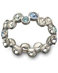 Swarovski Fidelity Blue Crystal Ring - Lyst