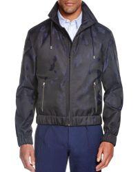 Carven Jacquard Blouson Jacket - Blue