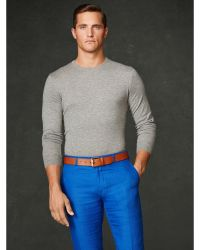 Ralph Lauren Purple Label Cashmere Crewneck Sweater - Lyst