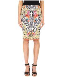 Versace Printed Pencil Skirt - Lyst