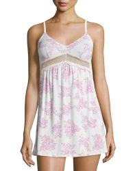Underella By Ella Moss - Audrey Lace-inset Chemise - Lyst