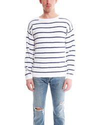 Shipley & Halmos Burgee Crew Sweater Stripe white - Lyst