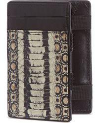 Dries Van Noten Faux Snake Leather Card Holder - For Men - Lyst
