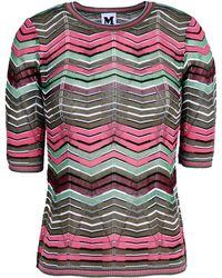 M Missoni Short Sleeve Sweater - Lyst