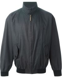 Burberry Standing Collar Bomber Jacket - Lyst