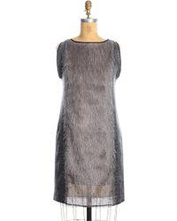 Kirsty Ward | Charcoal Grey Fringe Shift Dress | Lyst