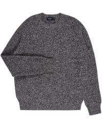 Paul Smith | Men's Grey Melange Merino Wool Ribbed Sweater | Lyst