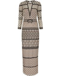 Temperley London Long Fishnet Dress multicolor - Lyst