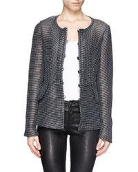 Armani Peplum Weft Weave Jacket - Lyst