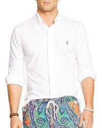 Ralph Lauren Polo Oxford Shirt - Slim Fit - Lyst