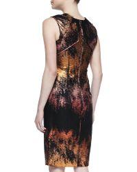 J. Mendel Metallic Jacquard Sheath Dress - Lyst