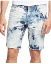 Rogue State - Men'S Tie Dye Denim Shorts - Lyst