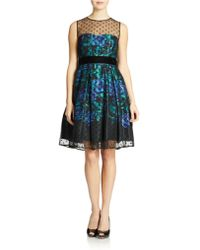 Eliza J Floral A Line Dress - Lyst