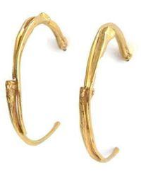 Nregnier Anaconda Hoop Earrings - Lyst