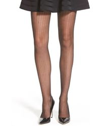 Vince Camuto - Pinstripe Tights - Lyst