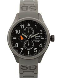 Superdry Men'S Scuba Gray Silicone Strap Watch 43Mm Iww-D10310087 black - Lyst