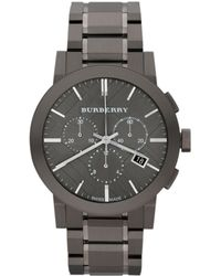 Burberry The City Stainless Steel Chronograph Watch - Lyst