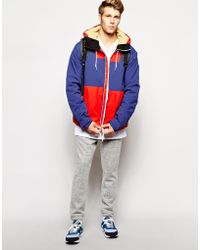Clwr Jacket With Color Block - Blue