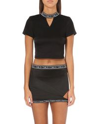 This Is A Love Song - Meilia Cropped Satin Top - Lyst