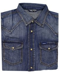 Diesel Shirt Sonora Denim Used With Snaps - Lyst