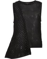 Timo Weiland - Open Knit Asymmetric Top - Lyst