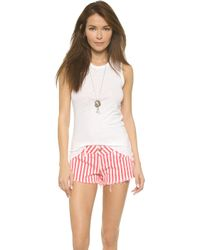 James Perse Inside Out Tomboy Tank Top - Carbon white - Lyst