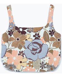 Zara Jacquard Pattern Top - Lyst