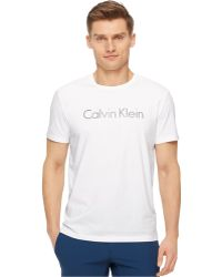 Calvin Klein Ck Performance By Space-Dye Transfer Crew-Neck T-Shirt - Lyst
