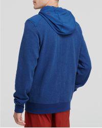 Rhone Monk Zip Hoodie - Blue