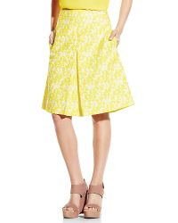 Vince Camuto Front Pleat A-Line Skirt - Lyst