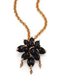 Oscar de la Renta Oval Cabochon Convertible Brooch & Pendant Necklace - Lyst