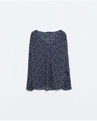Zara Star Pattern Blouse - Lyst