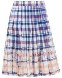 Sea Bleached-Plaid Pleated Skirt - Lyst