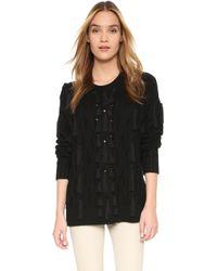 Rachel Zoe - Camrey Cable Tassel Sweater - Lyst