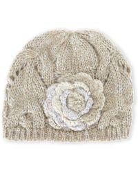 Grace Hats - Flower Knit Hat - Lyst