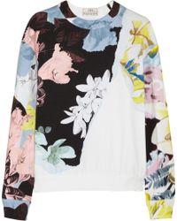 Erdem - Zea Floral-print Stretch-cotton Jersey Sweatshirt - Lyst